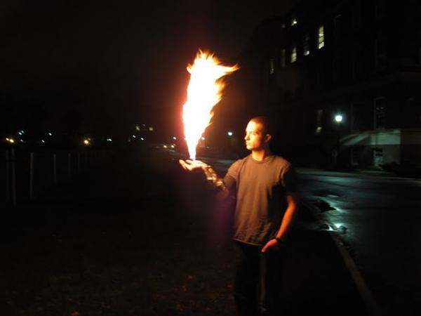 "Functioning X-men ""Pyro"" costume flamethrower appliance"