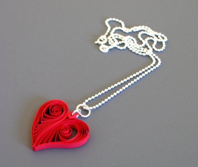 Quilling 101 learn the basics of quilling paper make as a variation add a chain and wear the quilled heart as a necklace pendant if desired spray the heart with a satin finish acrylic varnish to give it mightylinksfo