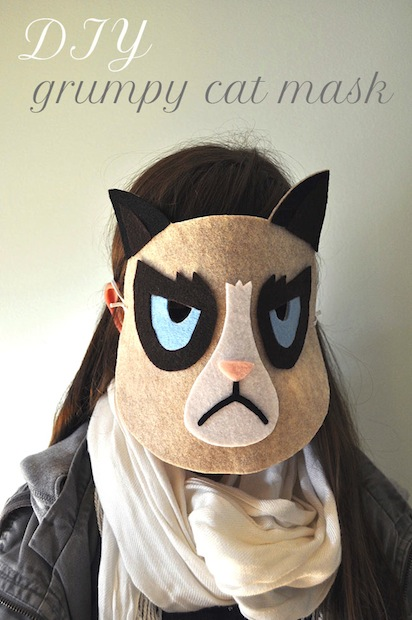 How-To: Grumpy Cat Mask