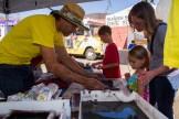 Bob Van De Walle of Red Couch Productions running a DIY silkscreen demo, creating lots of Santa Rosa Mini Maker Faire shirts.