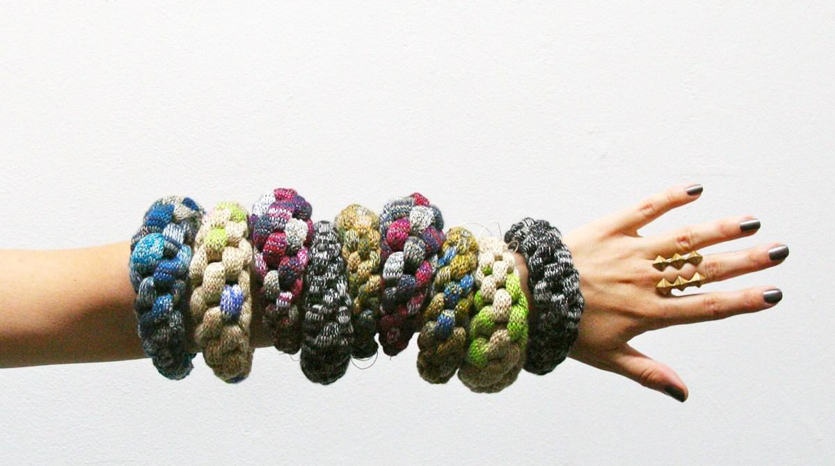 Knitted Macrame Jewelry