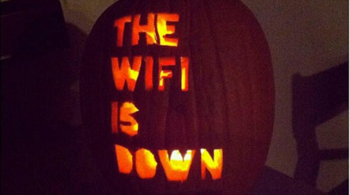 Spooky Wi-Fi Jack-O-Lantern