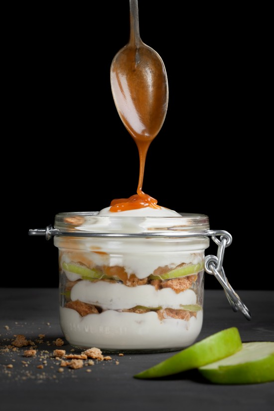 Caramel Apple Cheesecake Parfait
