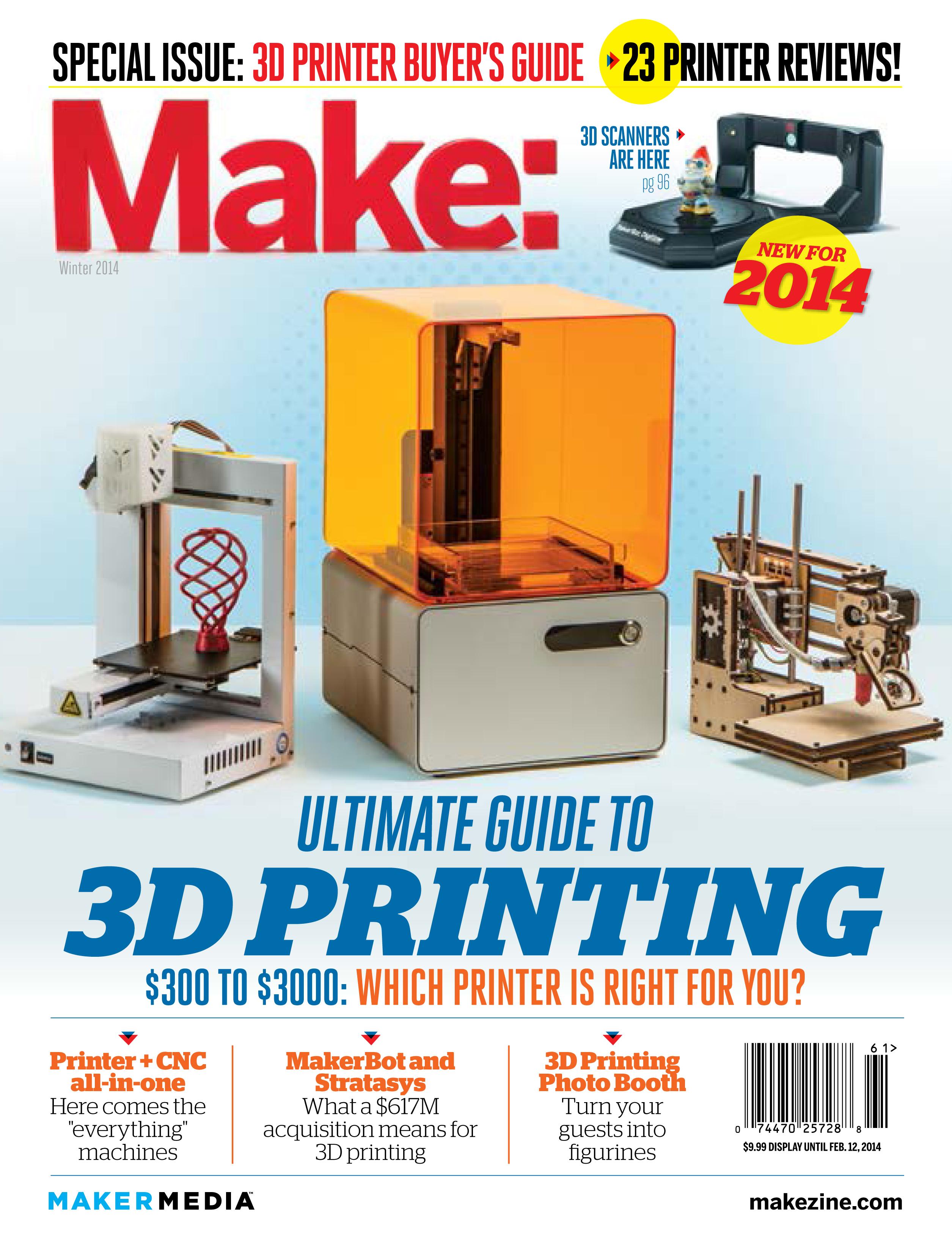 MAKE's 3D Printer Testing Results