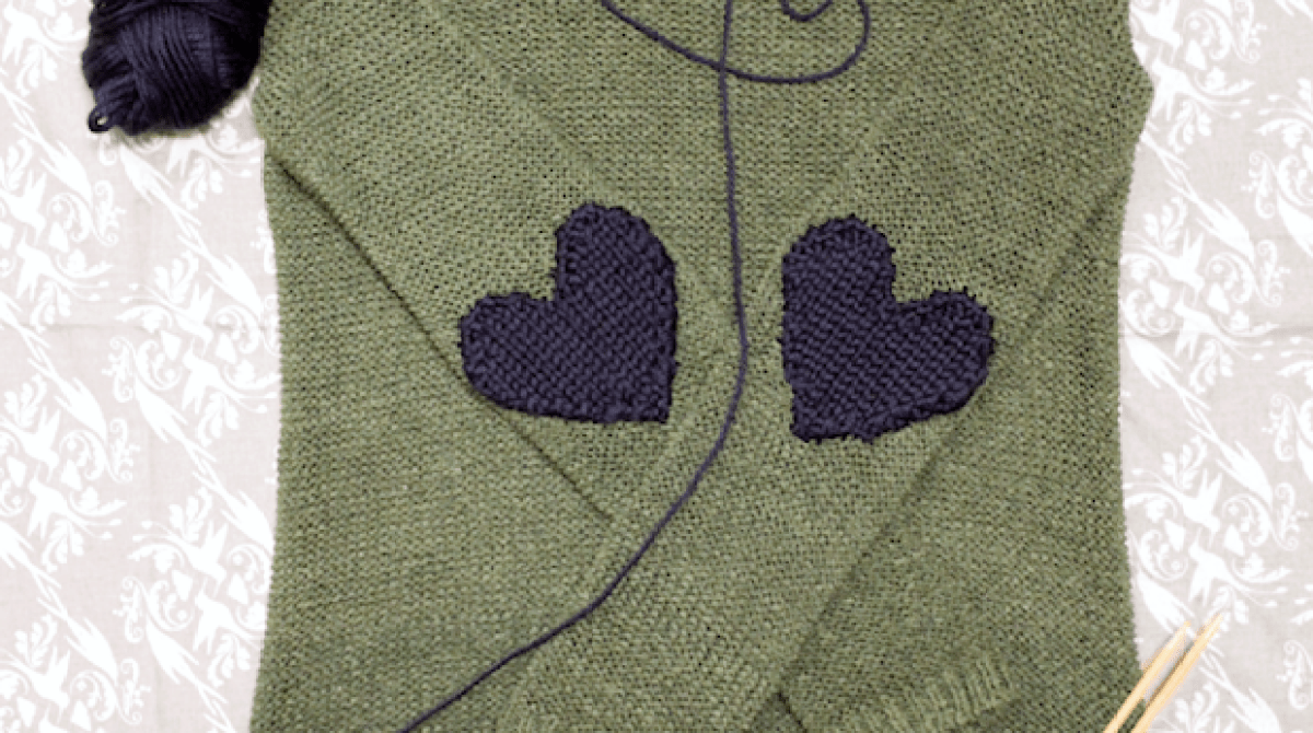 How-To: Knit Heart-Shaped Elbow Patches