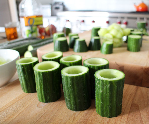 How-To: Edible Cucumber Cups