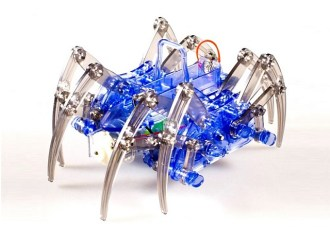 This little robot kit gives you a couple of assembly options to change the spider's stride and gait. Once assembled it would make a good toy. Or take my suggestion and buy two, add a brain and a sensor and make yourself a cool programmable robot spider!