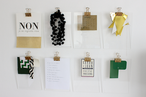 Gold + Acrylic Clipboards