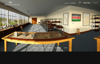 """The virtual lab allows the user to explore and """"touch"""" the displayed artifacts interactively."""