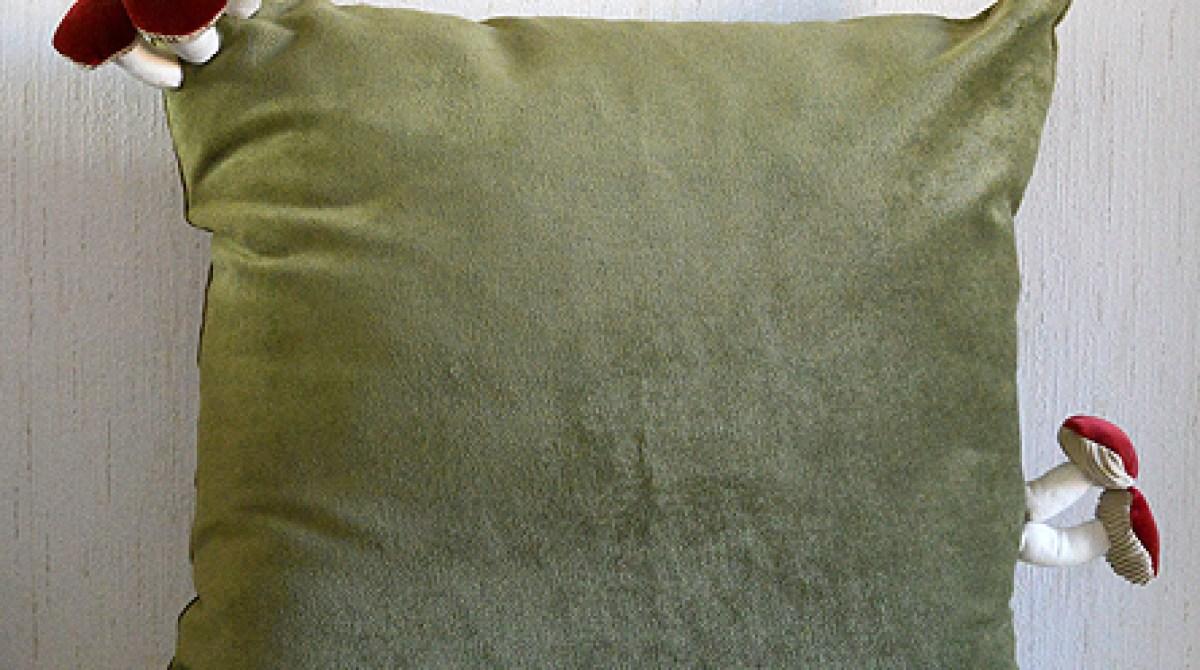 Handmade Fungus-Adorned Cushions