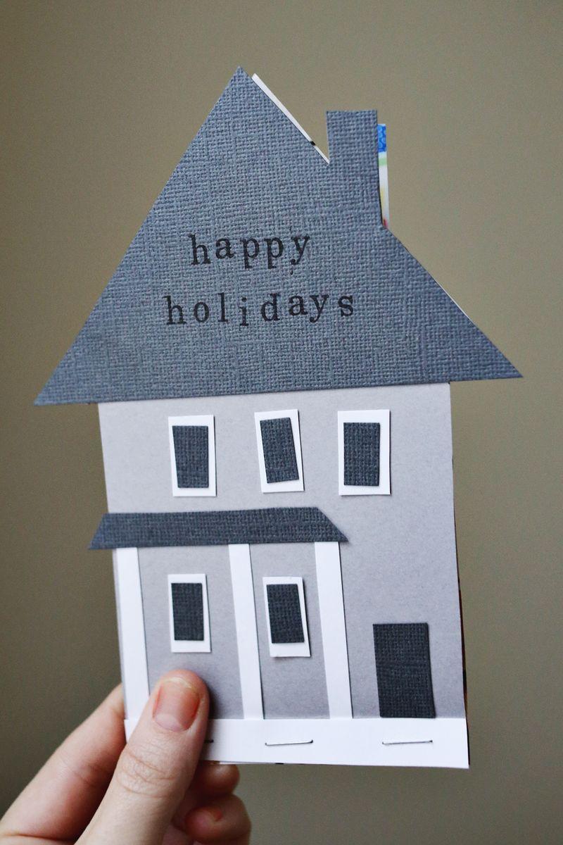 Handmade House Holiday Card