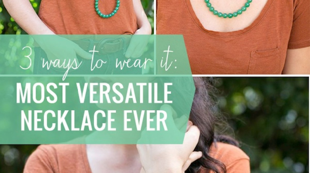 How-To: Easy Necklace That Can Be Worn in 3 Ways