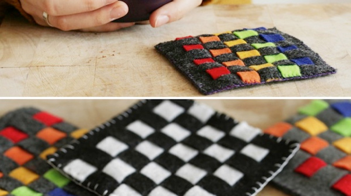 Kid Crafts: Woven Felt Coasters