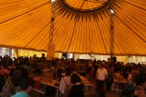Inside the main exhibition area—a 40 year old authentic circus tent