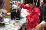 Airgaragelabo has a yearly favorite – a slime based instrument. Stretch, pull, and poke the slime to make music.