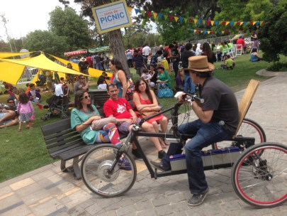 Battery powered trike and the picnic zone