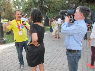 3 national television networks produced live reports from the fair