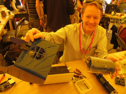 OpenROV community member Anton Rabanas fabbed his underwater robot at Makerspace STGO