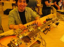 Claudio Merlet's Kiku01—a guitar that plays itself