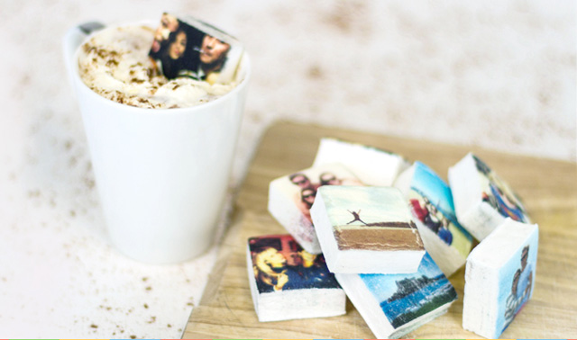 Marshmallows With Instagram Photos Printed On Them