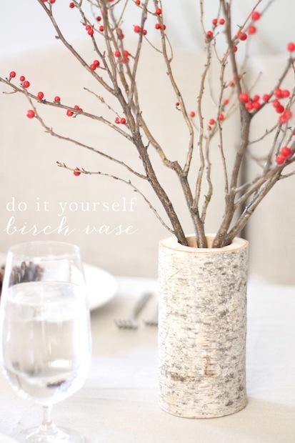 How-To: DIY Birch Wood Vase