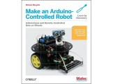You'll learn how to build and program an Arduino-based robot that can roam around, sense its environment, and perform a wide variety of tasks. All you need to get started with the fun projects is a little programming experience and a keen interest in electronics. This is a great guide to building a two or four wheeled robot. This book is also included as part of the package when you buy one of these robot kits from the Maker Shed. So consider getting a kit and you'll get this great book to boot!