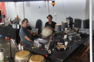 MakeShop Miami, a new makerspace and coworking space in Miami, creating and demonstrating custom instruments