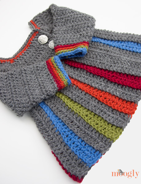 How-To: Crocheted Rainbow Baby Sweater