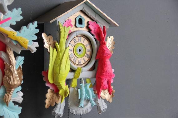 Neon Cuckoo Clocks