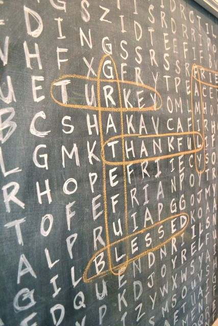 How-To: Thanksgiving Chalkboard Crossword Puzzle