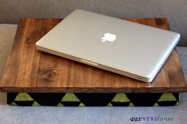 How-To: DIY Lap Desk with Hand-Stamped Legend of Zelda-Inspired Fabric