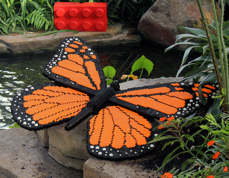 Lego Monarch Butterfly Looks Ready To Fly Away