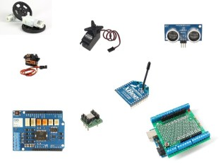 The Maker Shed keeps robot parts in stock and usually ships in 1 to 2 business days. They've got standard, micro and continuous rotation servos, XBee wireless radios, Arduino shields to drive motors or build prototypes, sensors, gear motors with wheels and more. Get started making your robot!