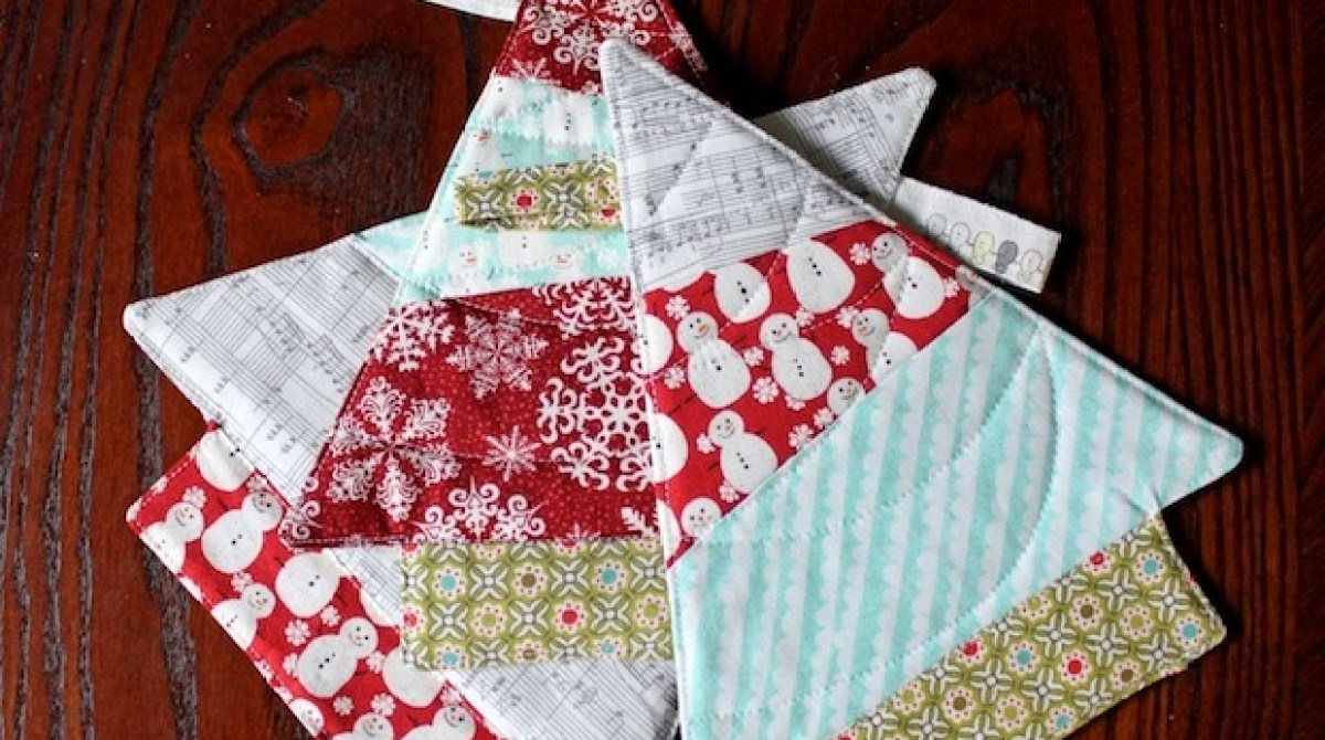 How-To: Quilted Christmas Tree Trivet