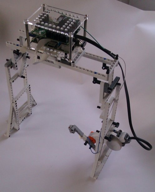 RasPi and Lego Robot Reads a Kindle Aloud