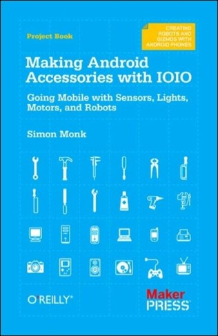 """Making Android Accessories with IOIO will help you create your own electronic devices with the popular IOIO (""""yoyo"""") board, and control them with your Android phone or tablet. With this concise guide, you'll get started by building four example projects—after that, the possibilities for making your own fun and creative accessories with Android and IOIO are endless."""