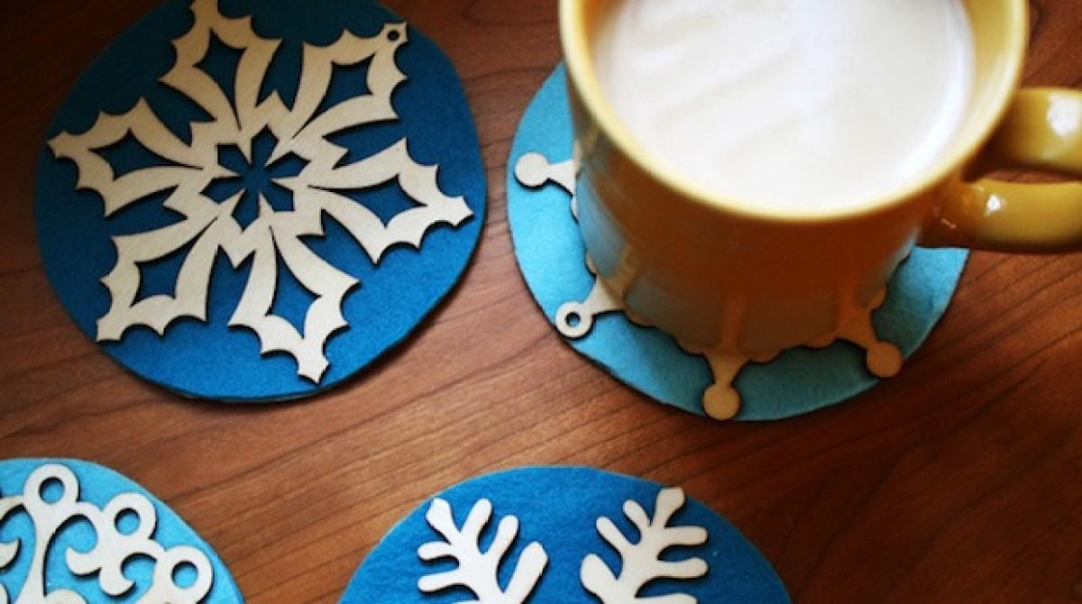 Flashback: Snowflake Coasters