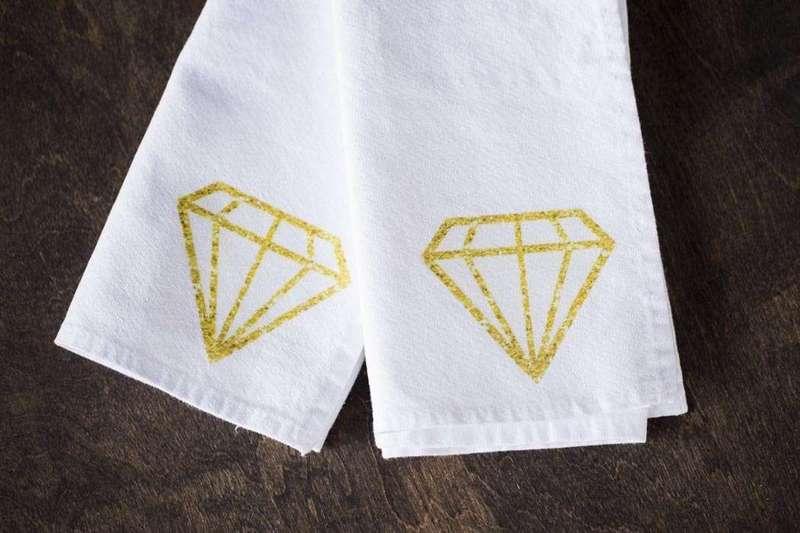 Handmade Gift Idea: Diamond Napkins
