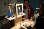 """The """"Percussion Kitchen,"""" an interactive drum project made from solenoids and kitchen utensils and equipment, by Devin Curry & Ben Gullard."""