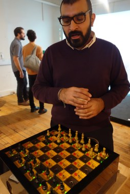 Aaankit Patel talks about his project that assists users in learning how to play chess.