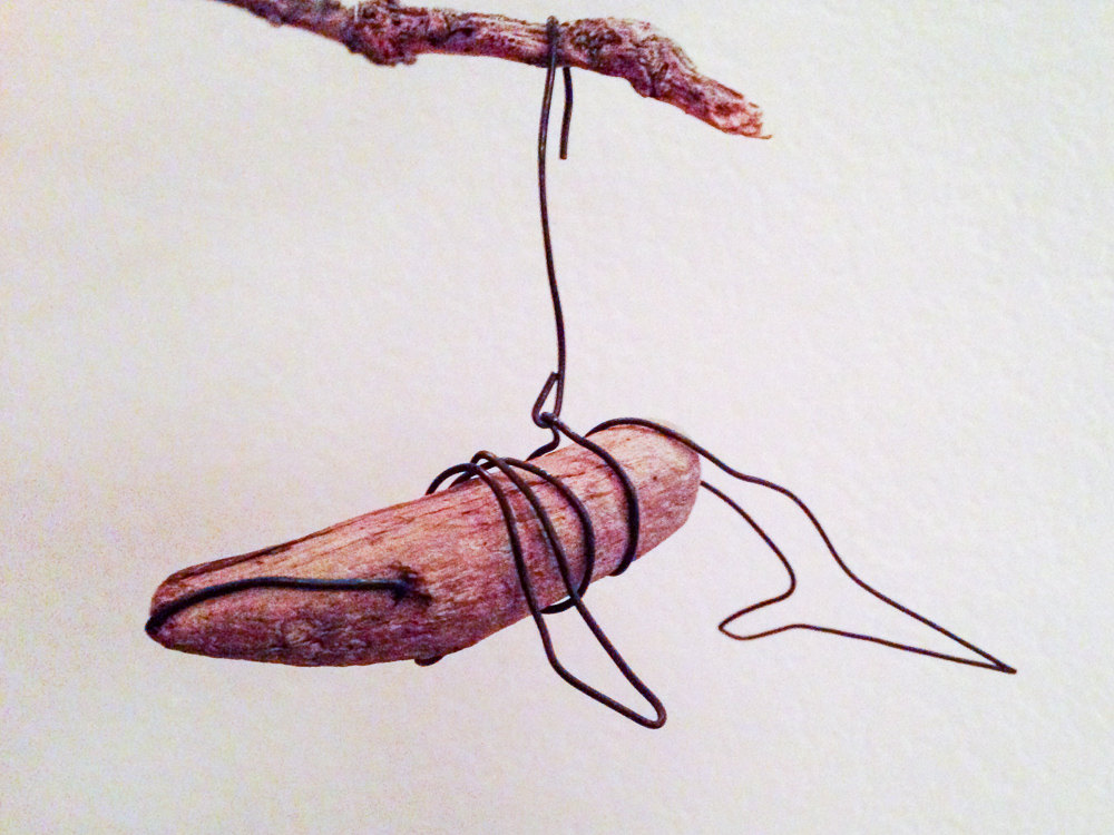A Driftwood Whale Ornament for a Found-Objects Tree