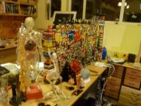 Kevin's workspace. Not pictured is his pet tarantula.