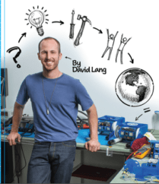 David Lang September 2013 Maker Shed I get to plug some of our books, especially if it's one that I worked to bring to you. Follow David Lang's personal journey from unemployed dude to maker pro. It was a pleasure to be David's editor on this book. Learn it. Know it. Live it.