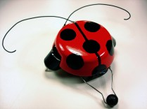 Ultra-simple bugbot navigates with feelers and switches, from MAKE Volume 12. Click here to build this bot.