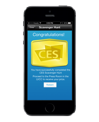 Winning the CES iBeacon scavenger hunt, without ever having to go to CES.