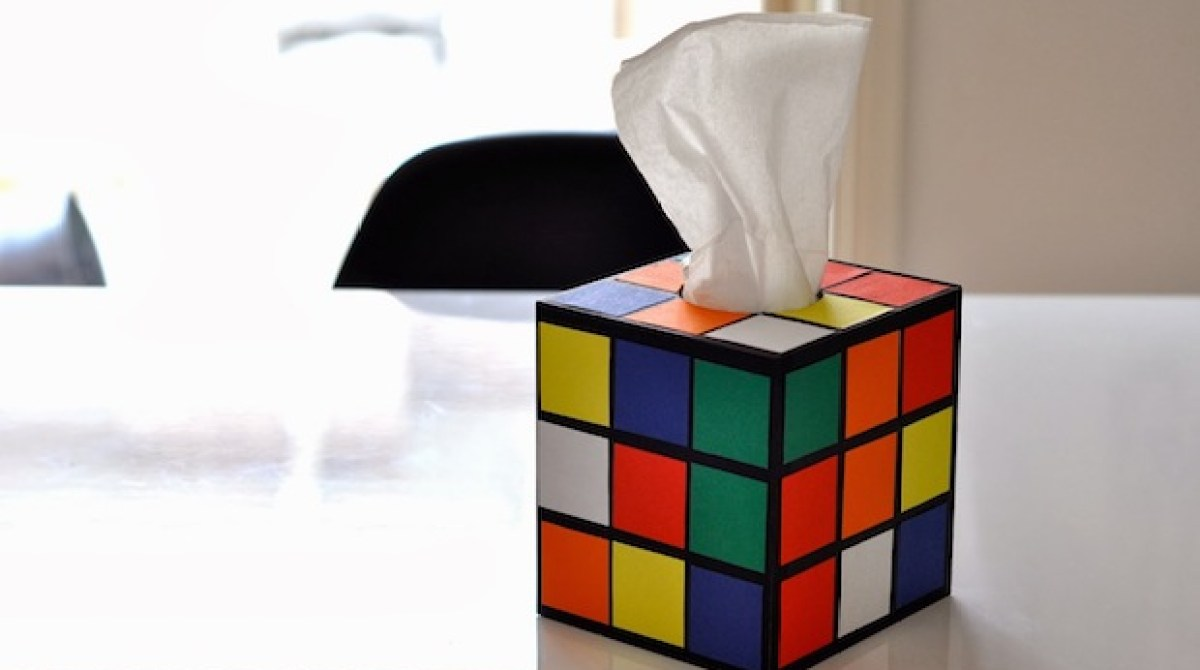 How-To: DIY Rubik's Cube Tissue Box Cover