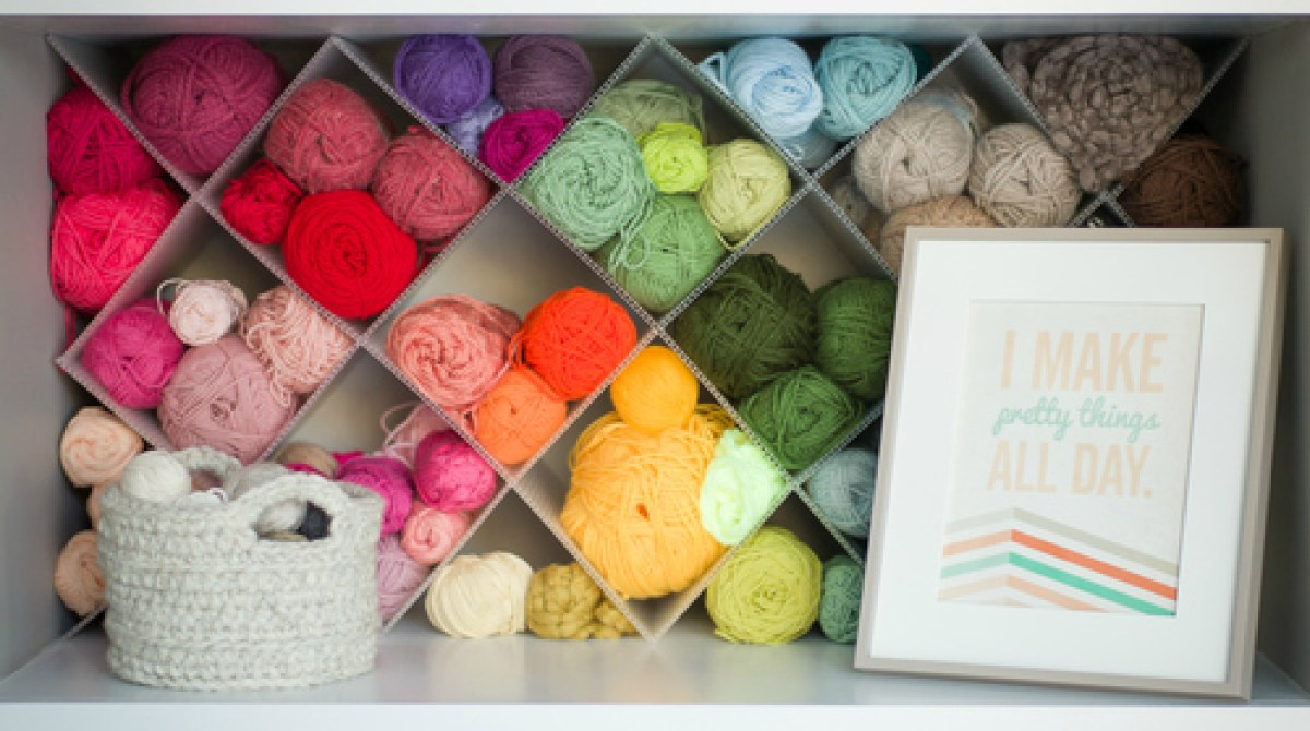 How-To: DIY Yarn Storage Shelving Inserts