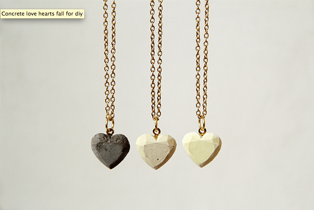 How-To: Concrete Heart Necklace