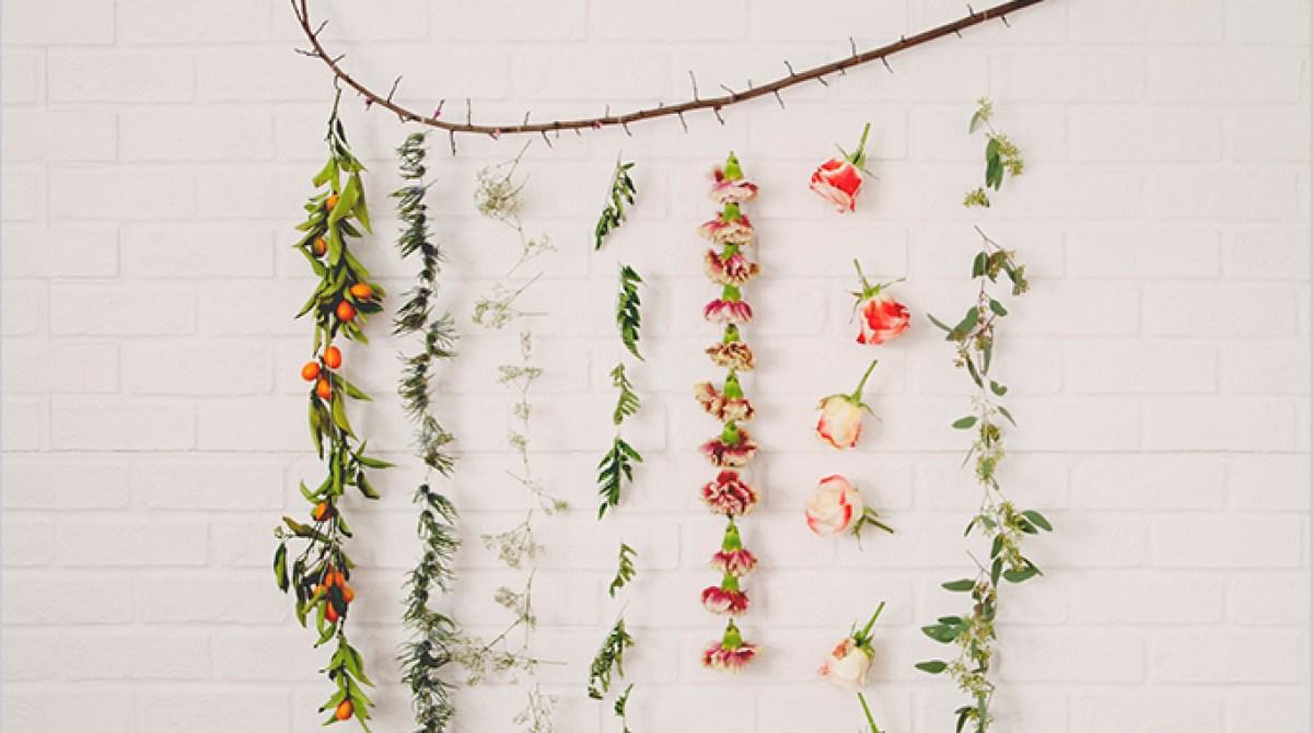 Flower Garland Wall Hanging
