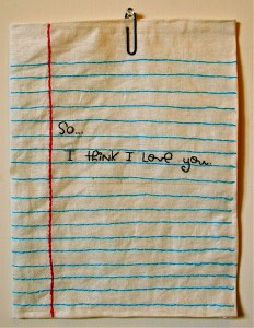 A handwritten note is cool. But how about an embroidered note that will last forever?